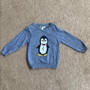 Hatley adorable blue penguin sweater, size 3T